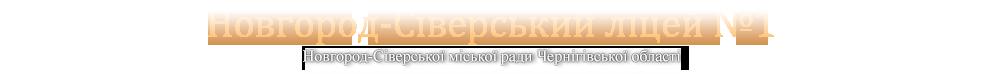 Новгород-Сіверька гімназія №1 ім. Б.Майстренка Новгород-сіверської міської ради Чернігівської області